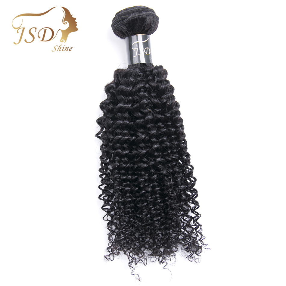 JSDshine Hair Free Shipping Peruvian Kinky Curly Human Hair 1 Pc Hair Weave Bundles 8-26inch Natural Color Non-remy Hair bundles