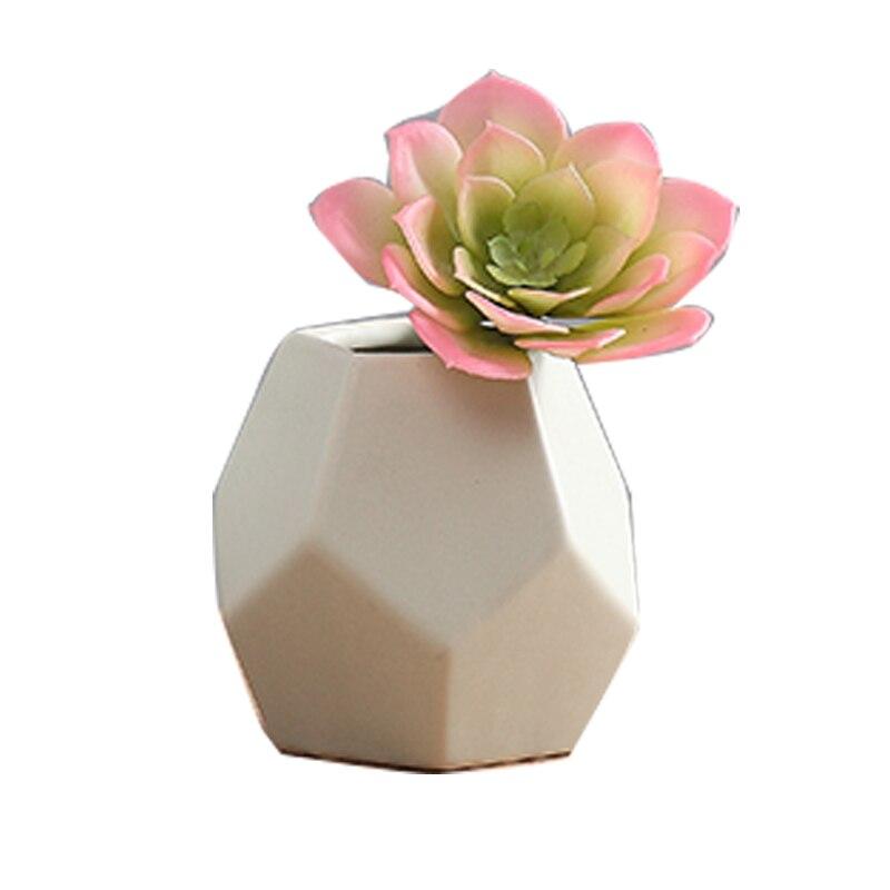 실리콘 금형 현대 미니멀 세라믹 꽃병 북유럽 창조적 인 기하학적 홈 장식 시멘트 3d 꽃병 금형