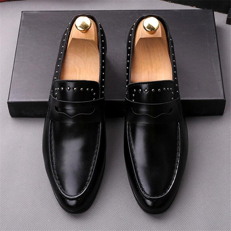 Sociais Noite Oxfords Rebite Dos Masculino Texto 2019 Casamento Formais Planas Sapatos 2 Vestem Homens 1 Popular De Se Vestido Casuais Sapato Novo aaPtxHzw