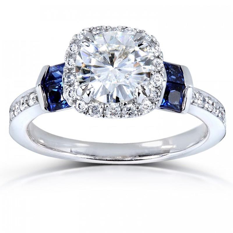 Diamantring verlobung blau  Online Get Cheap Blue Diamond White Gold Rings -Aliexpress.com ...