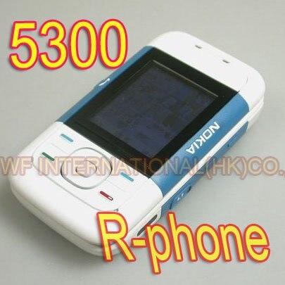 Цена за Оригинальный Nokia 5300 Classic Mobile Сотовый Телефон Слайдер Разблокирована 2 Г GSM Tri Band Синий и Подарков