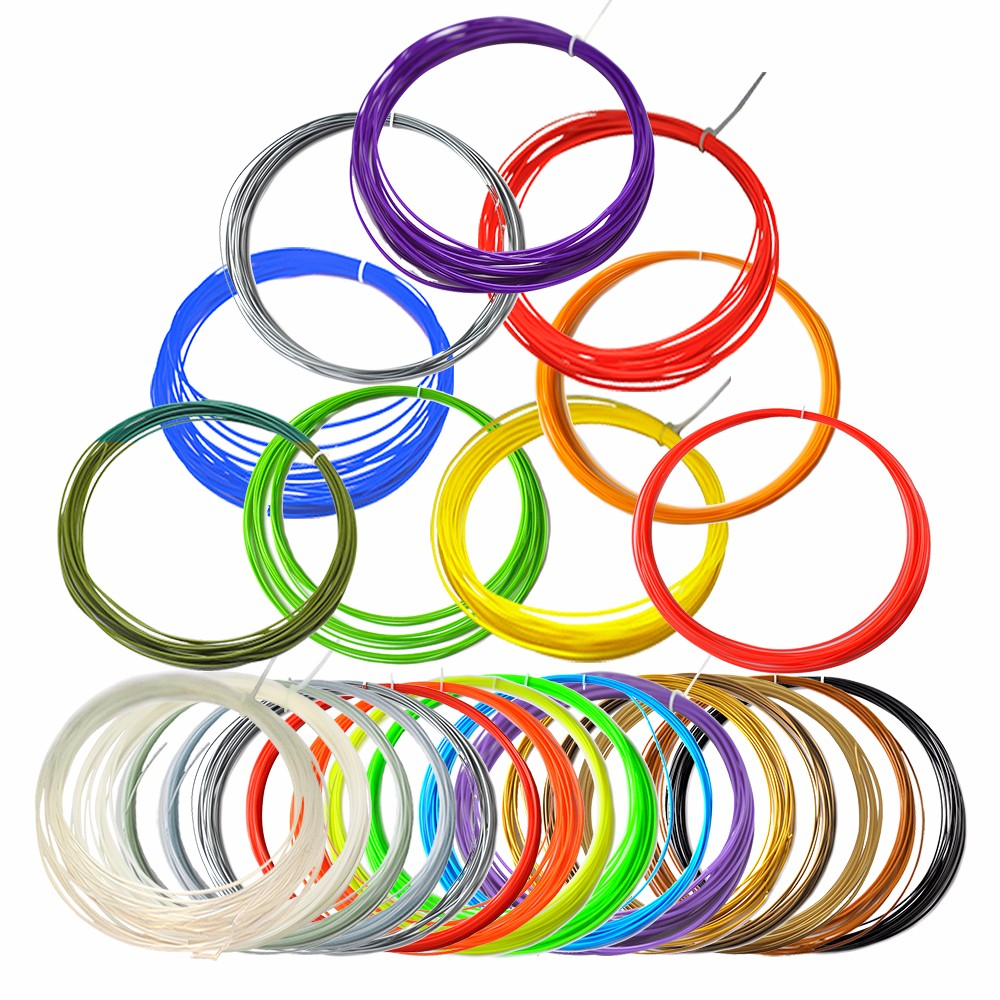 20pcs PLA Filament 20 Colors 10M 1.75mm ABS Available  For 3D Printer Pen  Kids Birthday Gift creality 3d printing pen 1 75mm abs pla 3d pen 4 colors available for kids drawing with 10 meters 3d printer filament as gift