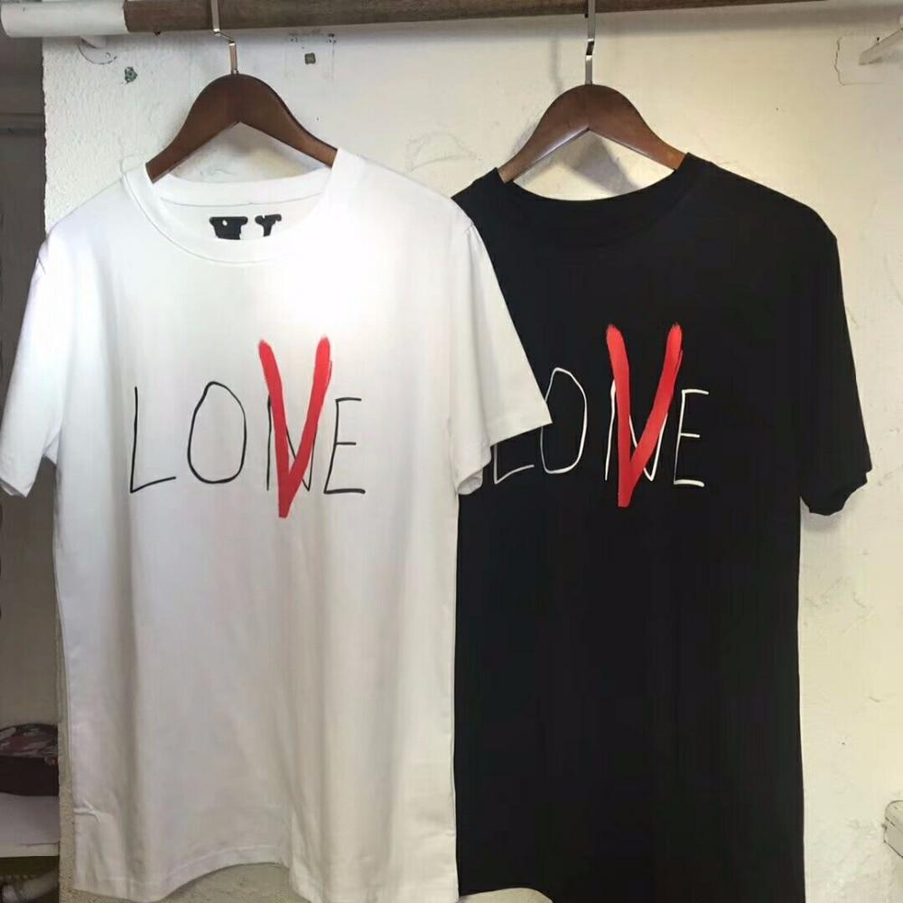 Vlone T-shirt Zomer Nieuwe Mannen Vrouwen Paar Liefhebbers Vlove - Herenkleding