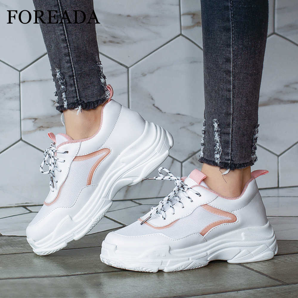 FOREADA Women Sneakers Shoes Spring