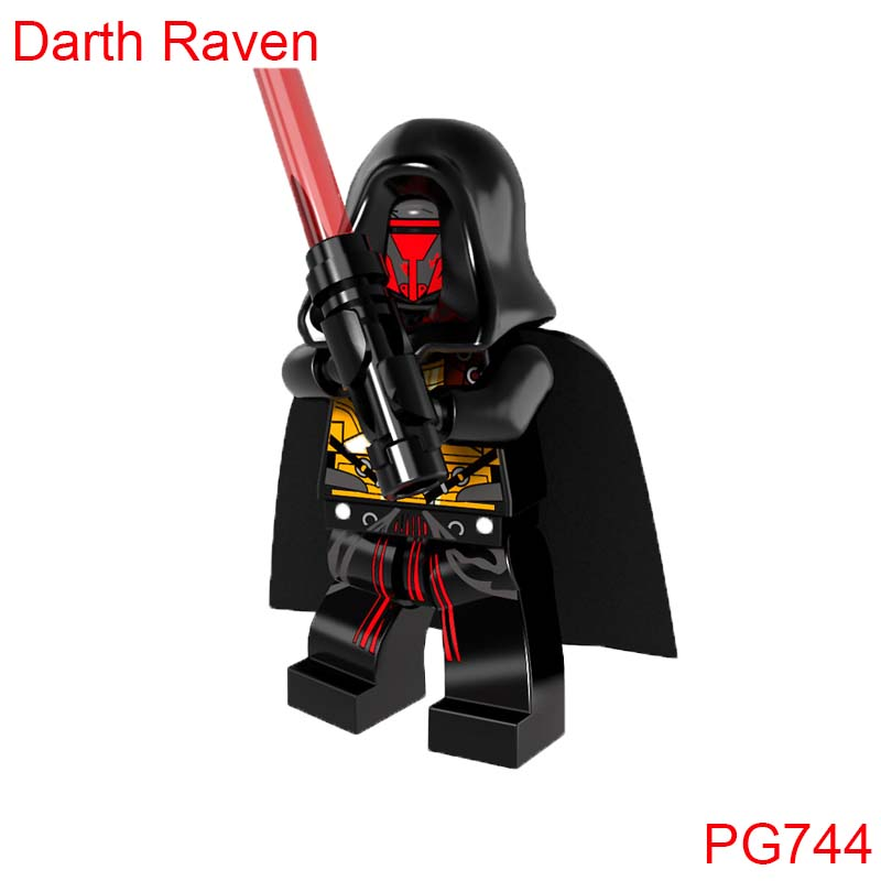 Pg744 Star Wars Figures Darth Raven With Red Lightsaber Battle Of Geonosis Building Blocks Super Heroes Set Model Action Bricks