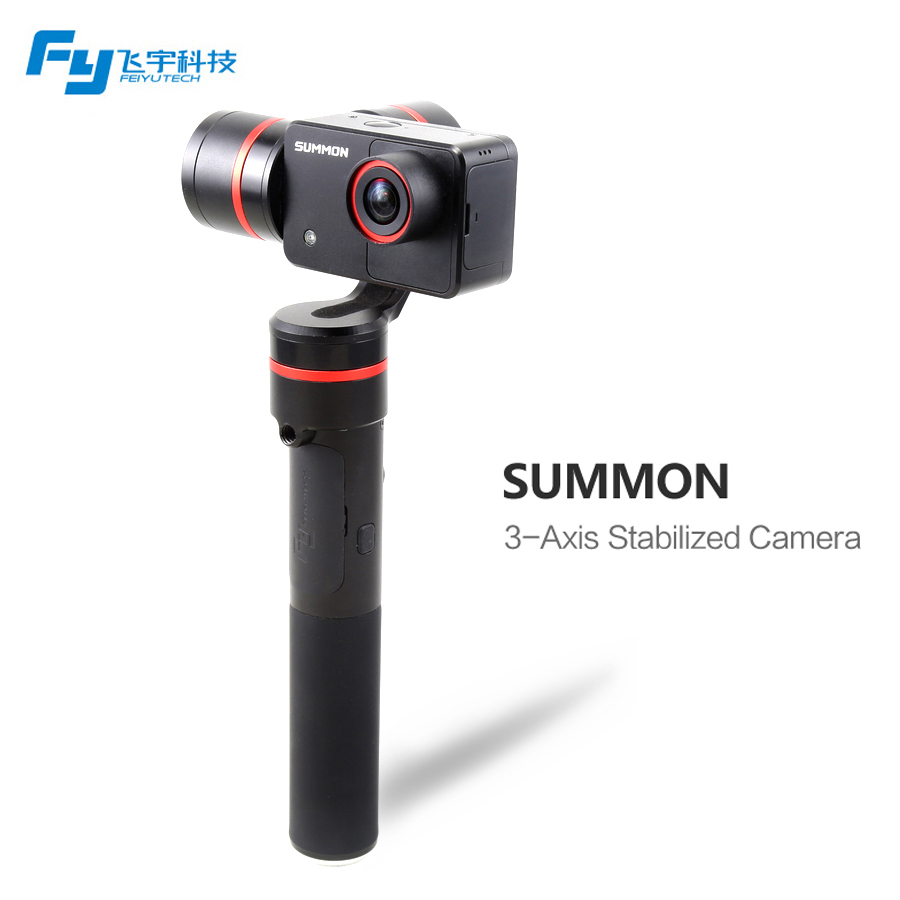 Feiyu Summon 3-Axis Handheld Gimbal Stabilizer with 4K 1080P Action Cam 16 Mega Pixels 2.0 Inch HD Display yuneec q500 typhoon quadcopter handheld cgo steadygrip gimbal black