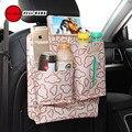 Full werk 1 pc mickey padrão mini car back seat organizador multi-bolso saco de armazenamento de viagem para carros suvs caminhões vans
