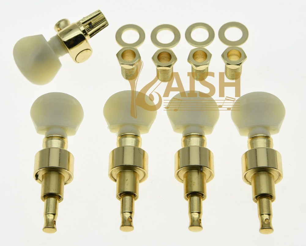 High quality Gold w/ Ivory Buttons 5 String Banjo Geared Tuners Tuning Pegs Machine Heads