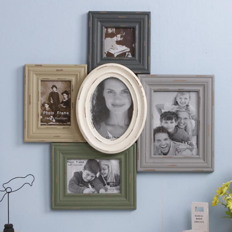 Home Decor Wooden Photo Frame Set Picture Frame White Wall Picture ...
