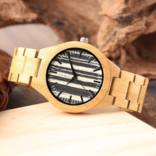 Fashion Bamboo Men Full Wooden Watch Luxury Nature Handmade Wristwatch Creative Dial Men Watch Quartz Sport 2019 New Arrivals nature wooded bamboo watch men handmade full wooden creative women watches 2019 new fashion quartz clock festival gift