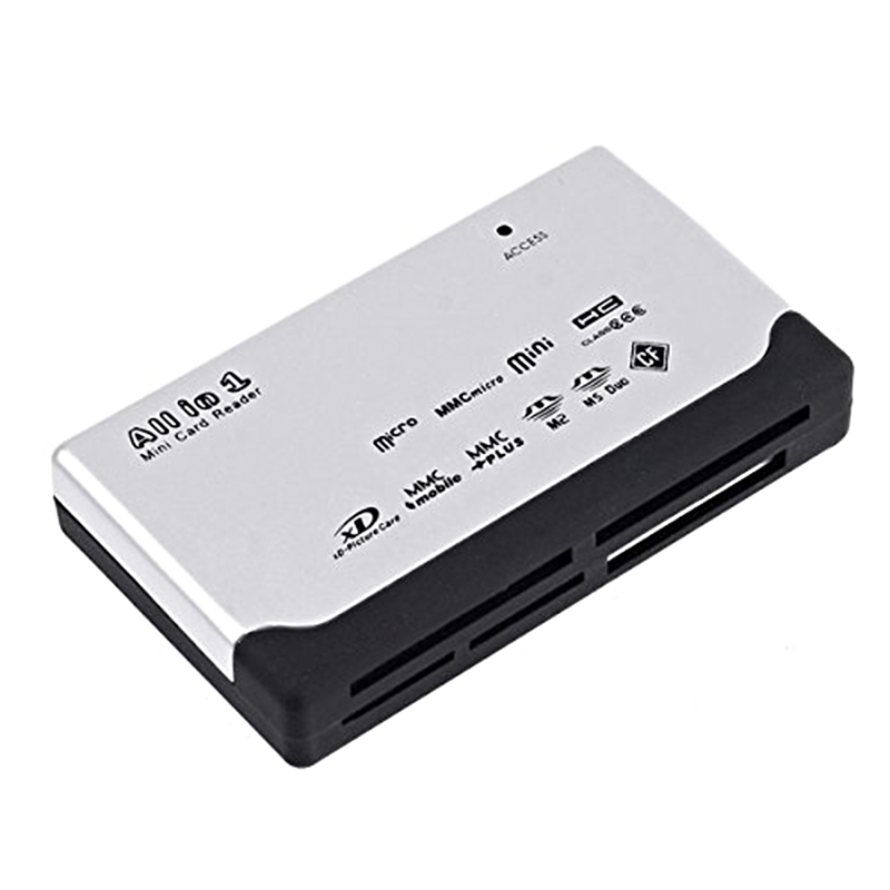 Hot sale USB 2.0 ultra high speed card reader 6 card slot SD / Mini SD / XD / CF / T - Flash / SDHC / MMC / MMC Mini / HS - MM ...