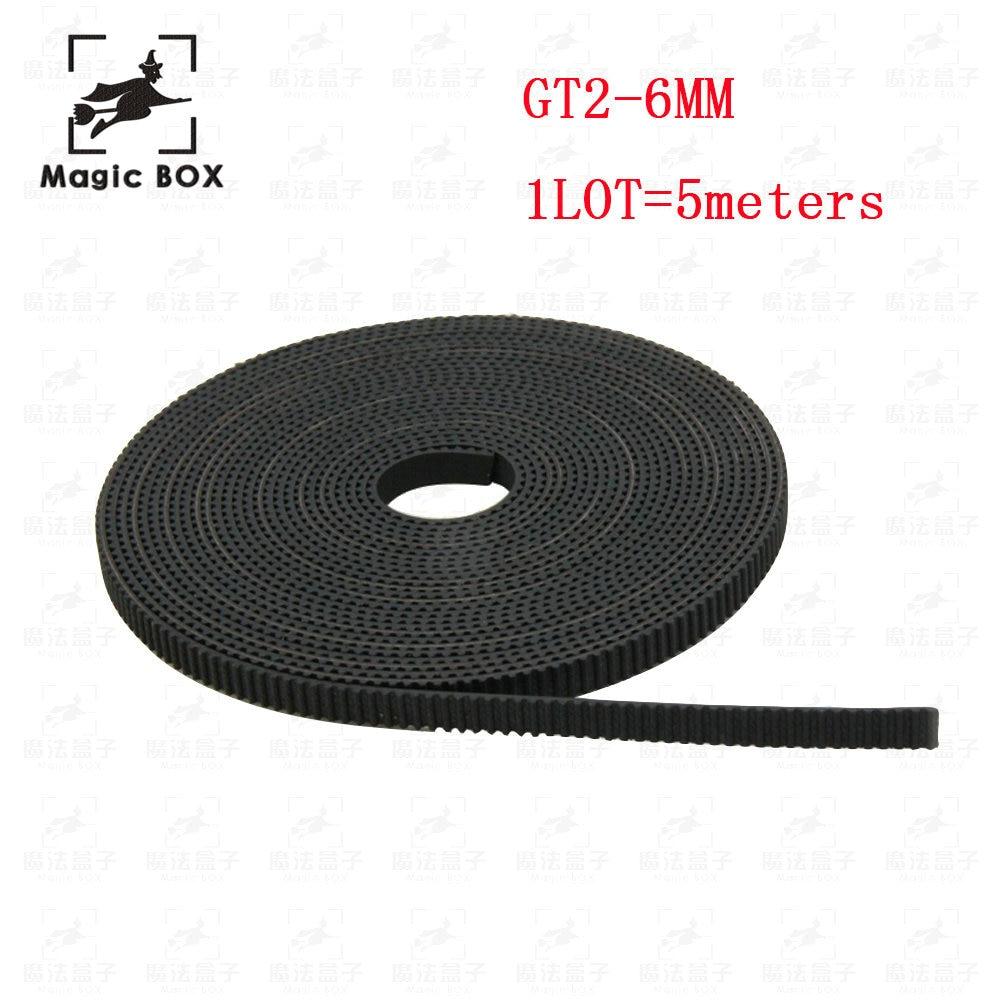 5m/lot GT2-6mm open timing belt width 6mm GT2 belt Rubbr Fiberglass cut to length for 3D printer wholesale wholesale 3d printer synchronous gt2 belt for reprap ultimaker other printer 1m length free shipping