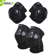 WOSAWE Adult Elbow Knee Protector Sets Cycling Snowboarding Ski Skateboard Sports Brace Support Volleyball Hockey Knee Pads недорого