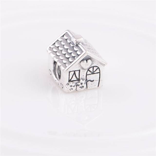 Authentic 925 Sterling Silver Charms Jewelry Sweet Home Love Family Home Beads Fits Pandora Bracelets Diy Jewelry Making