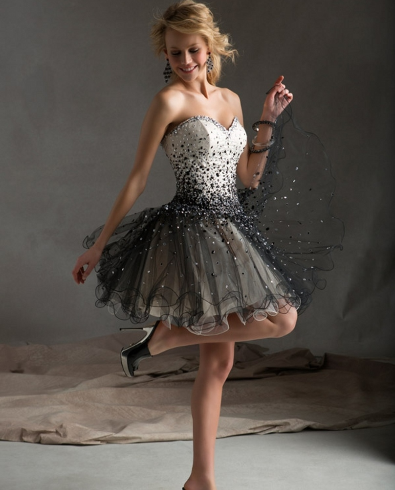 Aliexpress.com : Buy Fluffy Prom Dresses Under 100 Vestidos Cortos ...