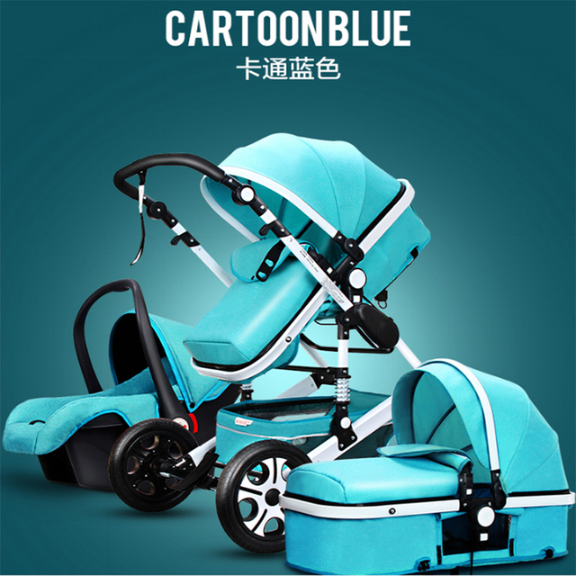 Baby Stroller 3 in 1 With Car Seat High Landscope Folding Baby Carriage For Child From 0-3 Years Prams For Newborns  5