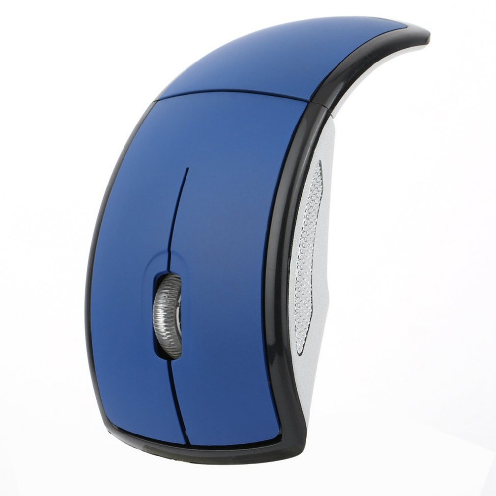 Convinent Folding Wireless Mouse Ergonomic Design for PC Laptop Computer Mini USB 2.4Ghz Snap-in Transceiver Optical Foldable