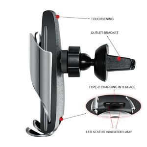 Image 3 - التلقائي لقط سريع شحن 10W سيارة لاسلكية شاحن حامل هاتف 360 درجة جبل سيارة ل فون سامسونج جميع هاتف ذكي