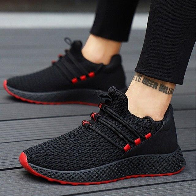 6d42abca69e94 Los hombres Zapatos antideslizante-con zapatos deportivos hombres zapatos  de luz de malla suave adulto
