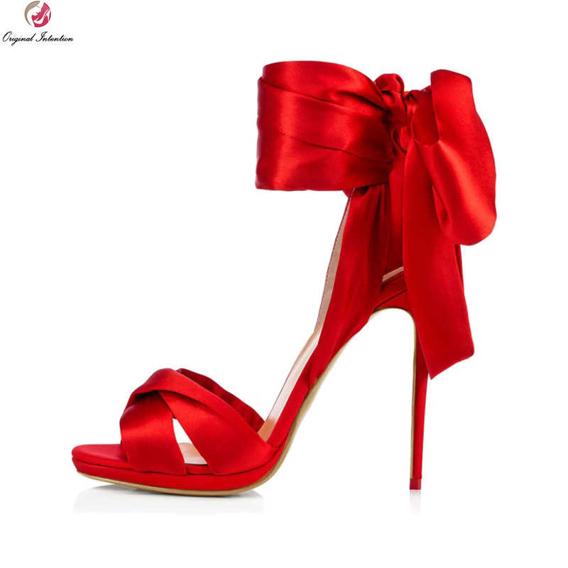 Accidentale minerale Aumentare  Original Intention New Fashion Women Sandals Open Toe Thin High Heels  Sandals Beautiful Black Red Shoes Woman US Size 4 14|High Heels| -  AliExpress