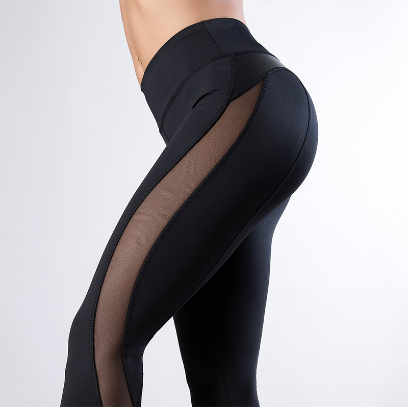 Grandwish Women Clothes for Fitness Yoga Pants Sports Wear Leggings Gym Workout Patchwork Black Running Pant