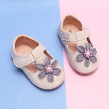 COZULMA Baby Girl Flower Casual Shoes Toddler Kids Party Anti-slip T-Strap Flat Shoes Baby Spring Non-slip New Shoes Size 15-25