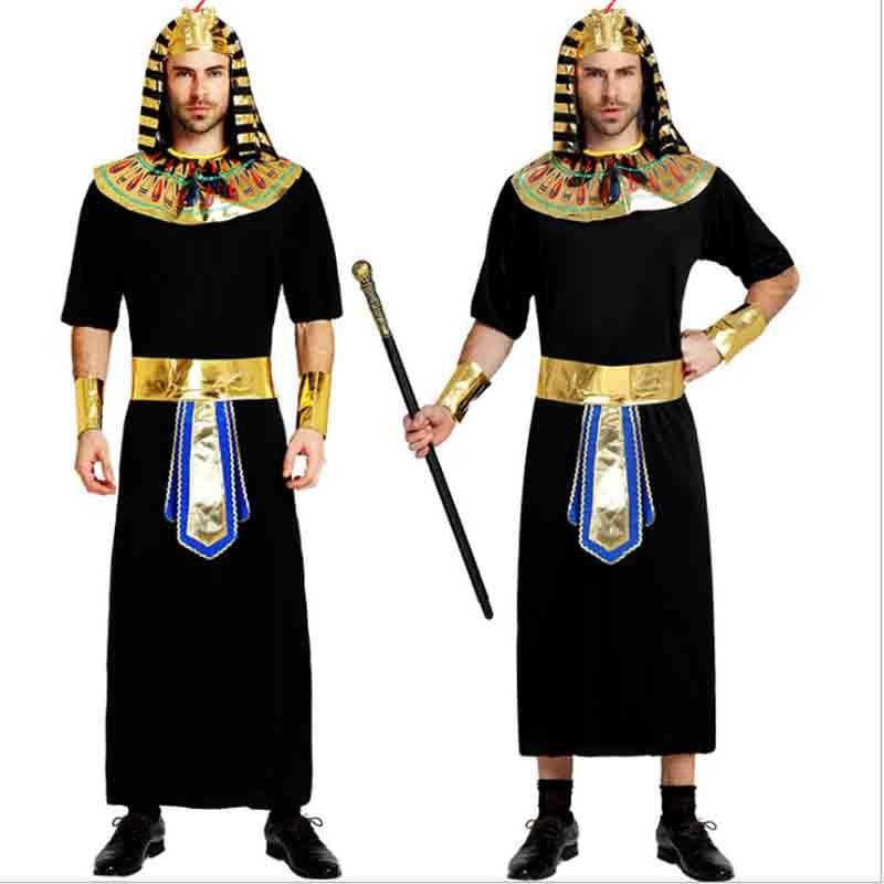 QUALITY PHARAOH EGYPTIAN  FANCY DRESS COSTUME MALE ADULT