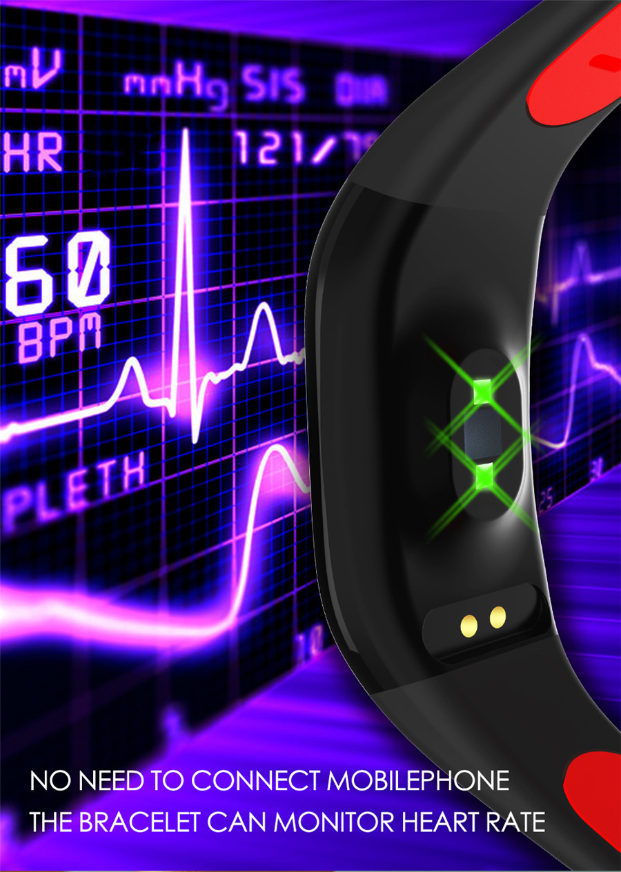 F21 Smart Bracelet GPS Distance Fitness Activity Tracker IP68 Waterproof Blood Pressure Watch Sleep Monitor Smart Band Wristband