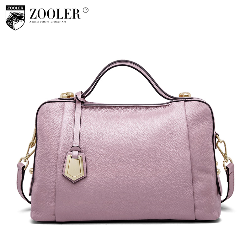 30292f198b 2018 high Quality  luxury genuine leather bags woman leather handbags ZOOLER  Boston pillow stylish lady shoulder bag bolsa n502