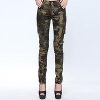 Cotton Cargo Pants Women Slim Joggers Women Camo Trouser Pantalon Femme Army Camouflage Female Military Women Clothes Sweatpants