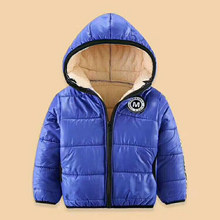 Baby Jacket For Winter Autumn Kids Boys Girls Coat With Fleece Fur Children Warm Outerwear Infant Boy hoodies Snowsuit 4 years(China)