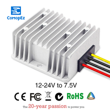 цена на DC-DC 12V to 7.5V Waterproof Step Down Converter 25A