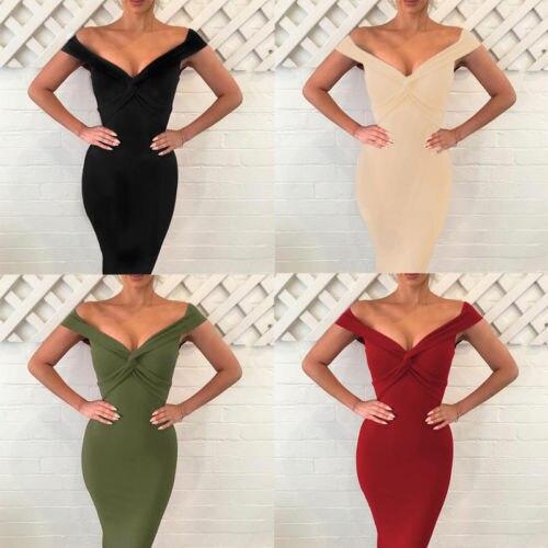 Hirigin Sexy Women Bodycom Dresses Fashion Deep V Neck Dress Cross Strap Solid Color Dresses Sleeveless Shoulderless Clothes