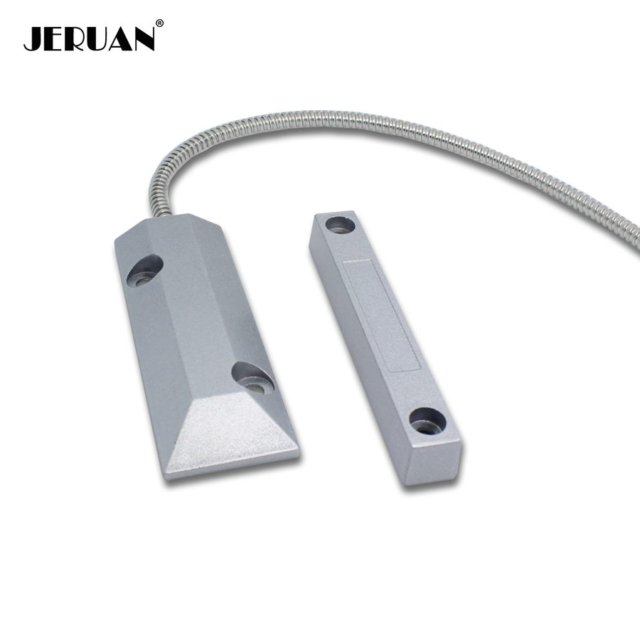 Jeruan 1 pcs wired magnetic rolling door sensor alarm nc for Alarme de securite pour maison