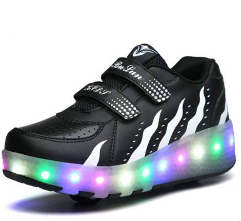 Boys Girl Roller Shoes LED Flashing 2 Wheels Roller Skate Shoes Flash Roller Skating Colorful Flashing Roller Skates Sneakers glowing sneakers usb charging shoes lights up colorful led kids luminous sneakers glowing sneakers black led shoes for boys