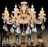 Luxury Chrome Finish Modern Chandelier Lights Crystal Chandelier Lighing Pendant Lamp Fixtures for Dining Room Living Room