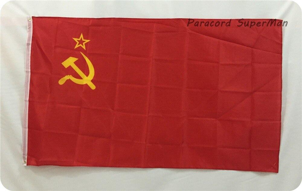 Qırmızı qadağan SSRİ Banner SOVIET Birliyi FLAG Rus İnqilabı - Komanda idman növləri - Fotoqrafiya 1