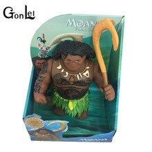 GonLeI 27cm Movie Moana Waialiki Maui Heihei Dolls Model With Music Action Figures Kids Lover Christmas Gift Children Toys