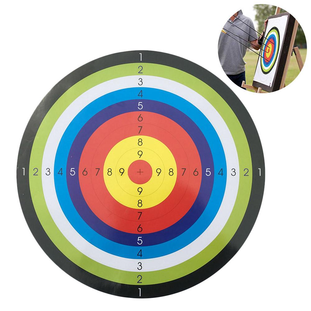 45x45CM 10PCS Archery Target Paper Shooting Equipment Training Paper For Bow Training Practice Game
