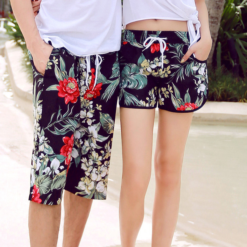 Men & Women Quick Dry Beach   Shorts   Brand Clothing 2017 Summer Swimwears Men's Boardshorts Couples   Board     Shorts