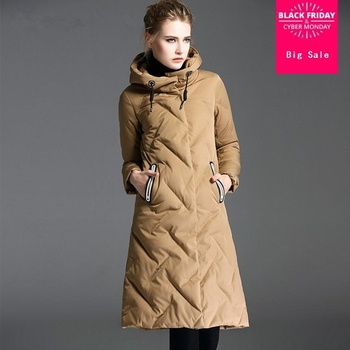 2020 fashion brand real White duck down warm thicker parkas coat female with hooded slim thicker down coat jacket wq560