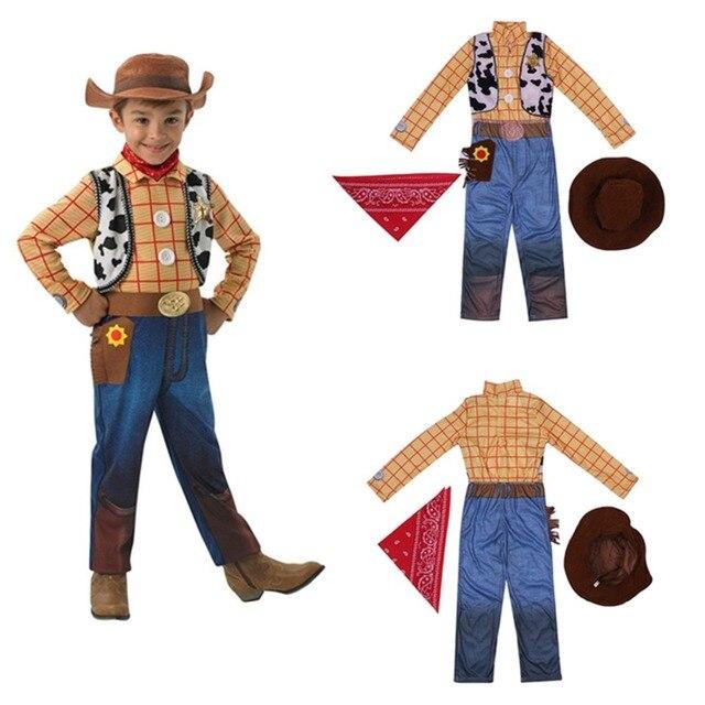 fornire un'ampia selezione di design innovativo rivenditore online Toy Story Sceriffo Woody Costume Cosplay Vestito Da Cowboy Cappello di  Carnevale Per Adulti bambini Ragazzo Tute e da Palestra Del Partito  Halloween ...