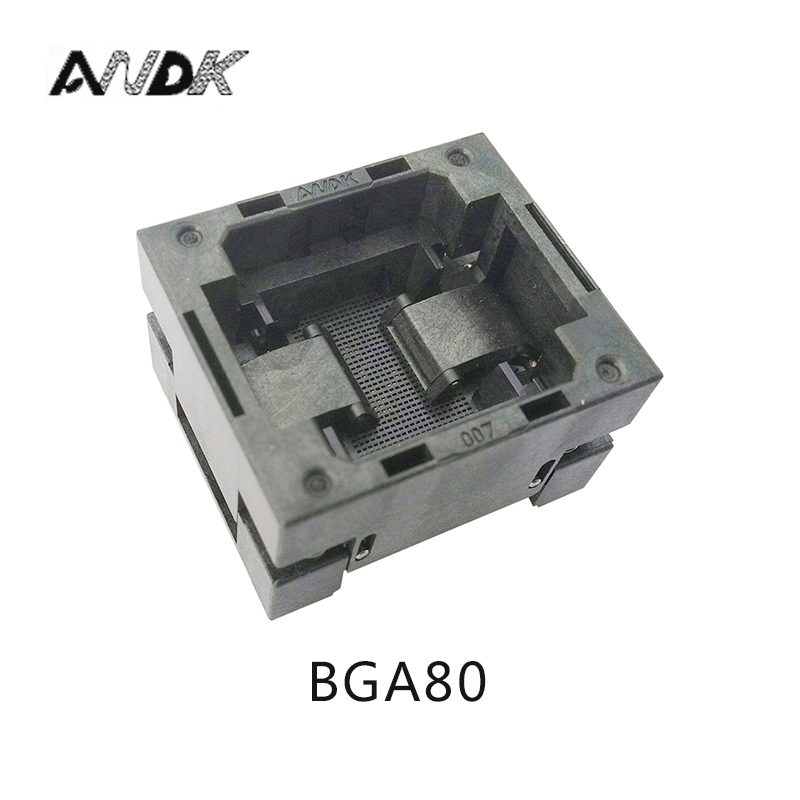 BGA80 OPEN TOP Burn in socket pitch 1.0mm IC size 8*10mm BGA80(8*10)-1.0-TP04/50N BGA80 VFBGA80 burn in programmer socket bga80 open top burn in socket pitch 0 8mm ic size 7 9mm bga80 7 9 0 8 tp01nt bga80 vfbga80 burn in programmer socket