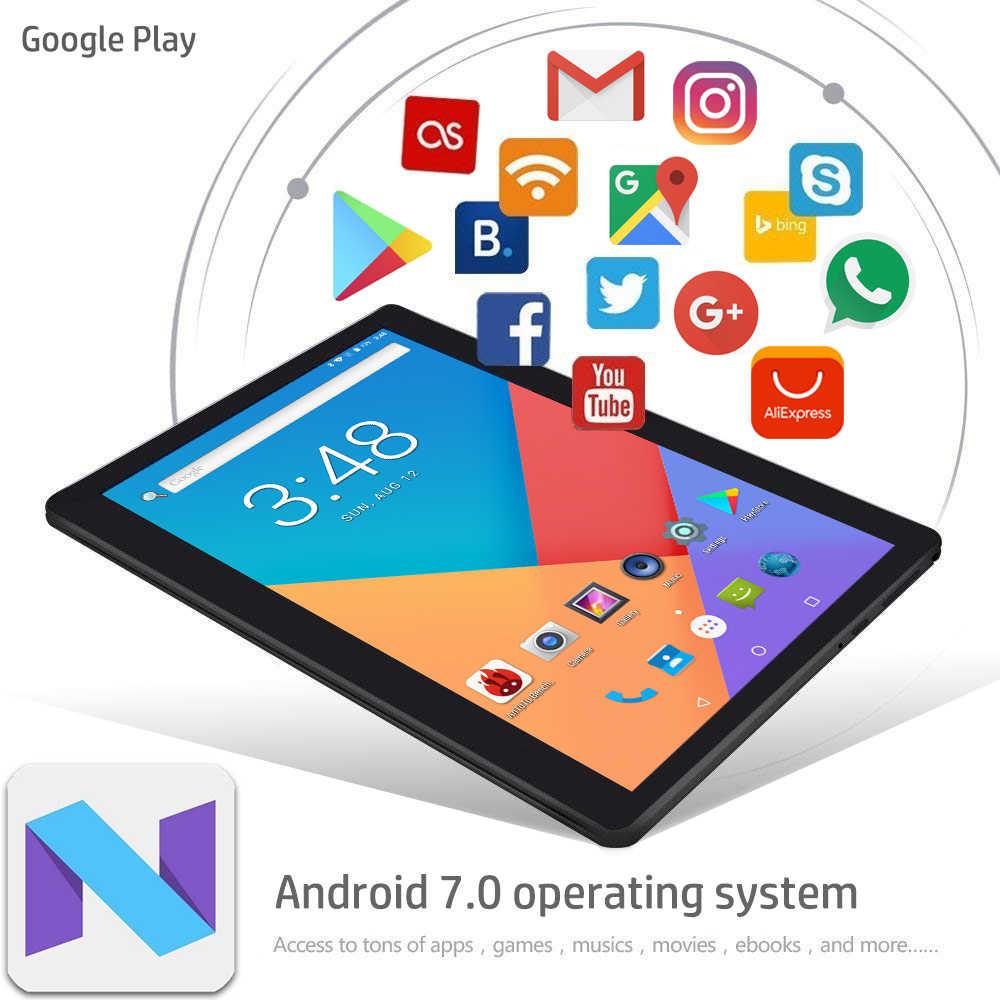 High Tech 10 Inch Android 7.0 Octa Core Dual SIM Wifi Tablet PC 4GB RAM 32GB ROM 3G 4G LTE Phone Call Dual SIM 1280*800 IPS GPS