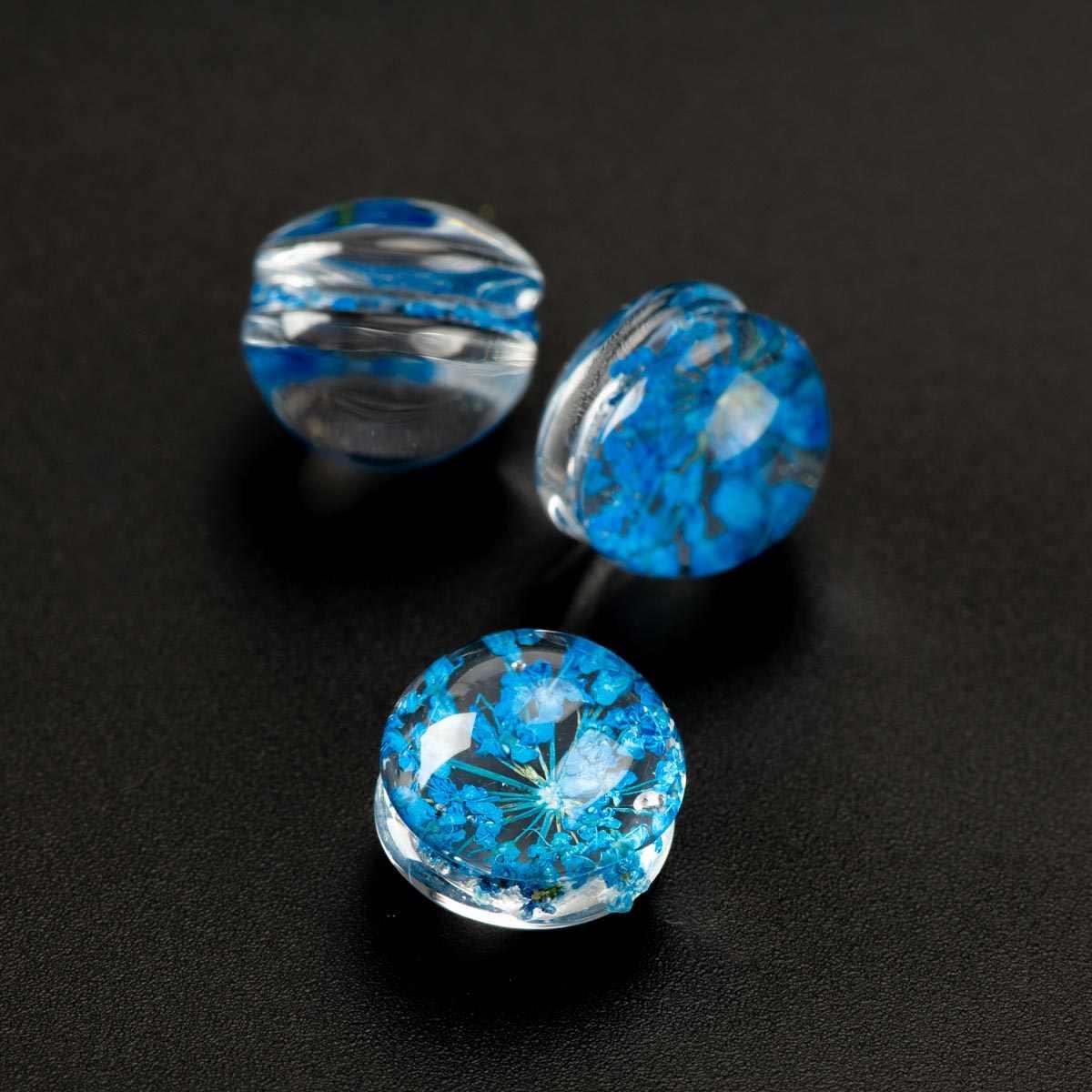 12 # לא-וו בעבודת יד פרח זכוכית חרוז מחרוזת לא טבעי אבן חרוזים DIY צמיד תכשיטים ביצוע חרוזים # IZ106