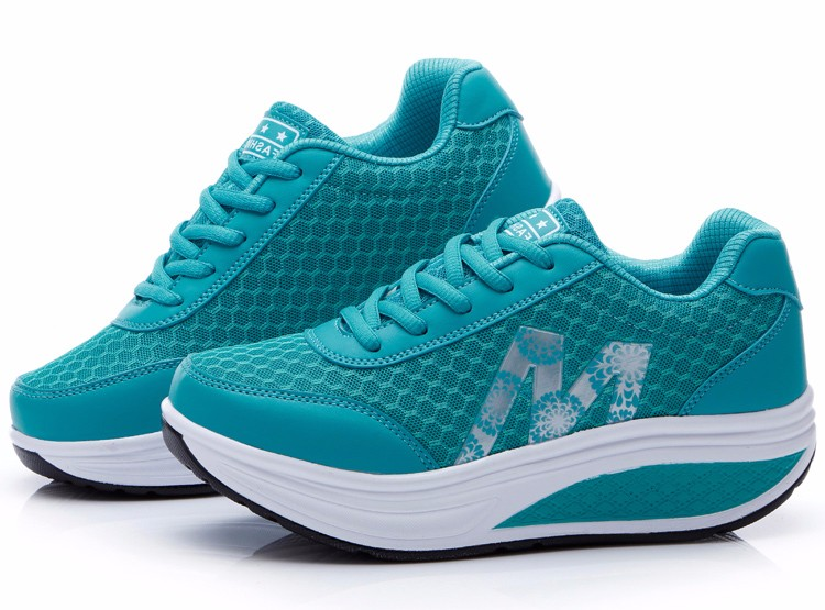 Slimming Shake shoes Women Fashion Breathable Mesh Casual Shoes Spring Summer Lace Up Women Swing Shoes Platform Trainers YD52 (27)