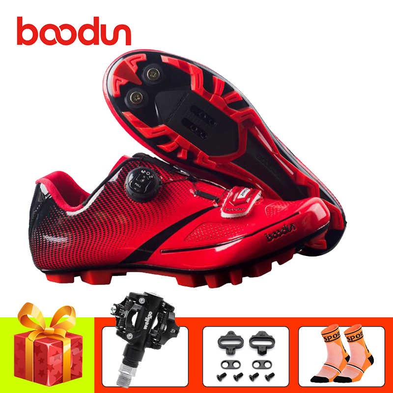 BOODUN Cycling Shoes sapatilha ciclismo mtb Women Men Racing Bicycle Bike Shoes Self-Locking breathable spd pedals sneakers