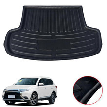 For Mitsubishi Outlander 5 Seats 2013-2017 Car Trunk Mat Cargo Boot Liner Mat Car Accessories car accessories car boot carpet trunk cargo liner trunk mat protector cover for mazda cx 5 cx5 2nd gen 2017 2018