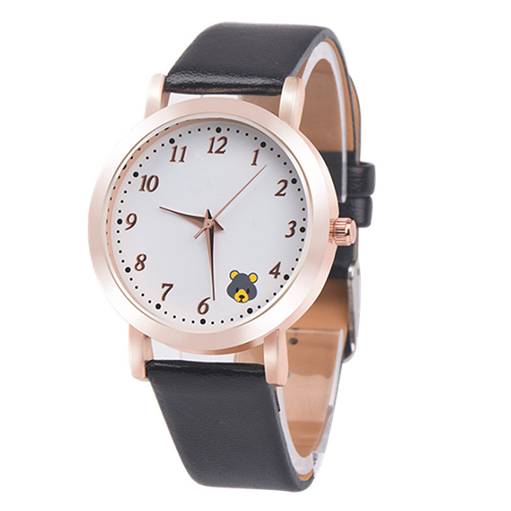 Casual Ladies Watches Quartz Wristwatch Fashion Cartoon Cat Leather Quartz Analog Women Watch 3