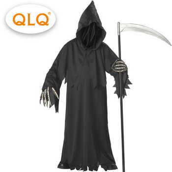 High-quality  grim reaper costume with hat masks skeleton hands costumes adults men halloween cosplay  skeleton costumes - DISCOUNT ITEM  15% OFF All Category